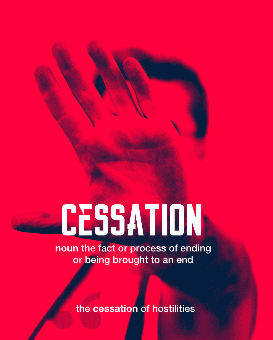Definition from LookUp for cessation