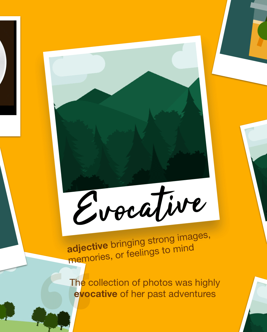 Definition from LookUp for evocative