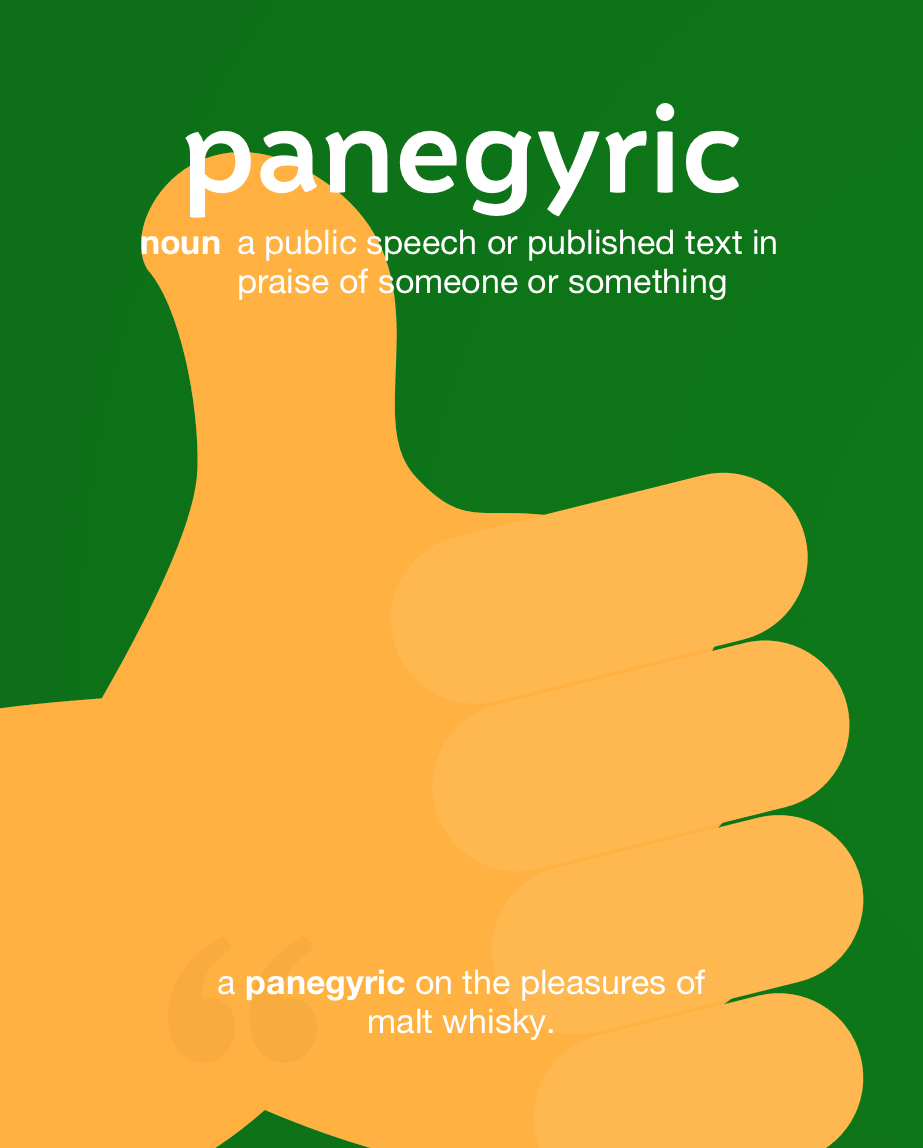 Definition from LookUp for panegyric