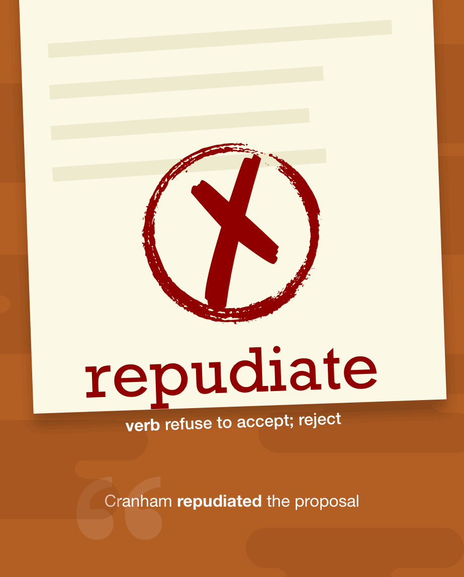 Definition from LookUp for repudiate