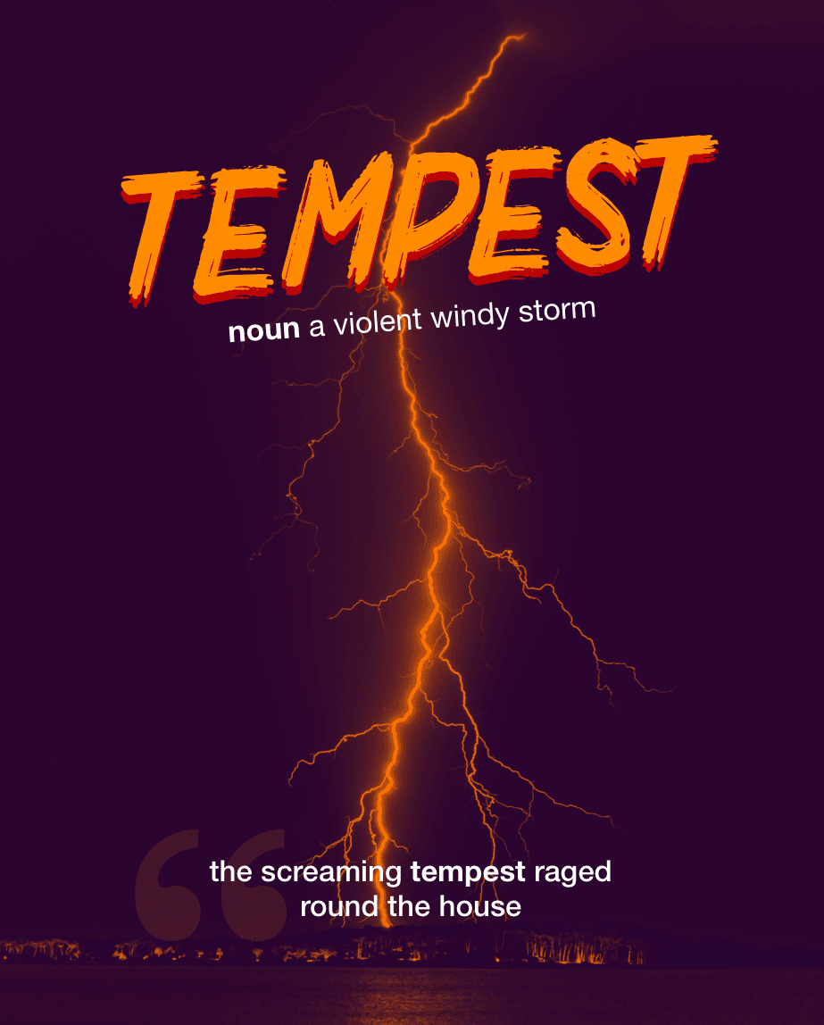 Definition from LookUp for tempest