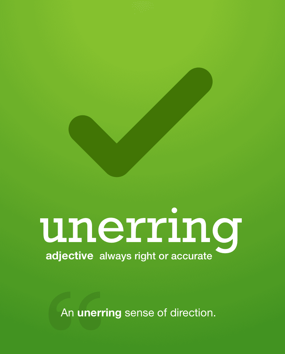 Definition from LookUp for unerring