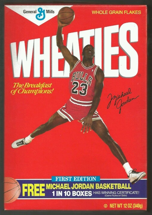 One of Michael Jordan's boxes of Wheaties.