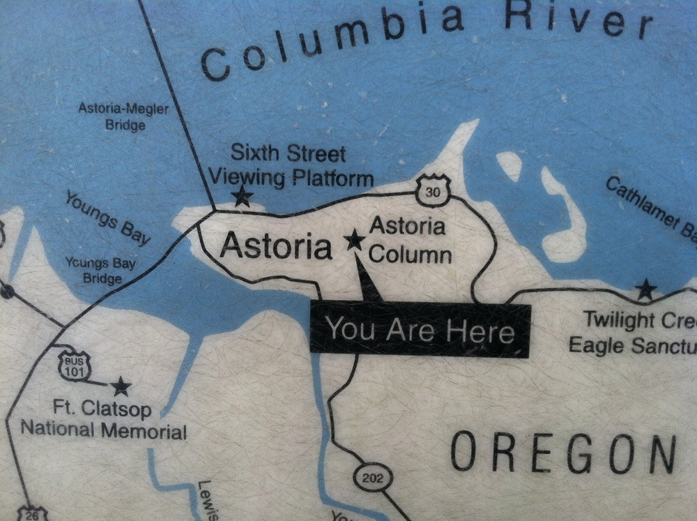 You are here sign for Astoria