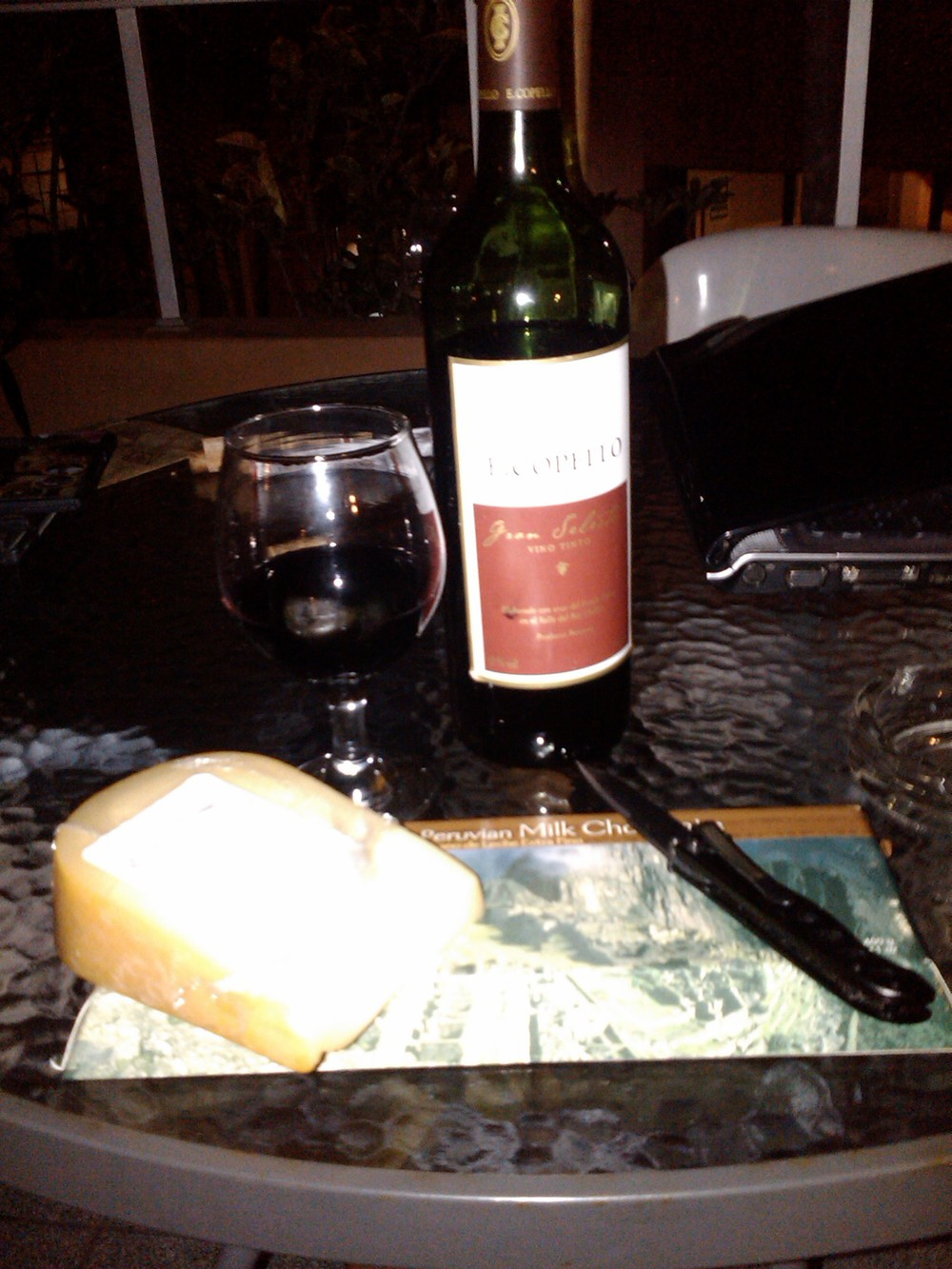 It can be good to unwind with some wine, cheese, chocolate, Cuban cigars and good fellowship