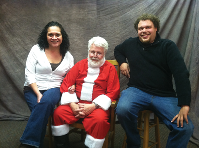Minnie and I with Santa.