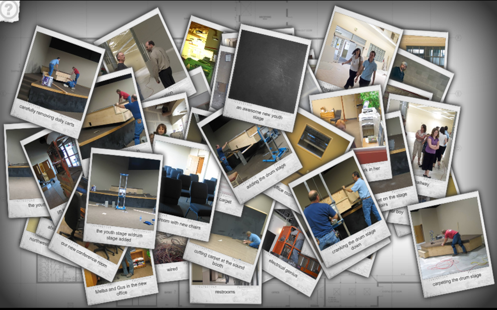 A screenshot of the  Victory Faith Fellowship  of a collage of photos regarding their new church facility.